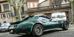 Green Stingray (xwattez) Tags: france cars chevrolet car festival rock automobile stingray voiture chevy american tarn corvette américaine lavaur 2013