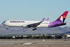 N582HA Hawaiian Air 767-33A/ER Las Vegas 02/11/2011 (Tu154Dave) Tags: las vegas hawaii lasvegas hawaiian boeing 767 767300 76733aer n582ha