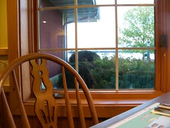 ..have a seat? (wards work) Tags: door food tree window wisconsin restaurant bay cozy chair lock placemat buffet shrub wi eatery rowleys crankless 4wwc 2013106