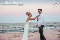 Postboda Miriam y Jonathan (Aida Aldeguer) Tags: pink wedding sunset beach atardecer groom bride couple pareja boda rosa playa paisaje postwedding novios novia novio ttd enlace postboda trashthedress