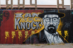 I Am the One Who Knocks (Sean Davis) Tags: walter streetart jessie mural nashville fav50 walt heisenberg fav25 fav100 fav75 bryancranston baristaparlor