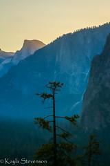 Sunrise on Half Dome vs 2 (Kayla Stevenson) Tags: california usa sunrise blackwhite yosemitenationalpark yosemitevalley tunnelview