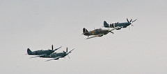 Hurricane IIc & Spitfire PRXIX BBMF x3 02 Fairford 07 (Trev Earl) Tags: 20d canon display aircraft hurricane airshow spitfire battleofbritain bbmf