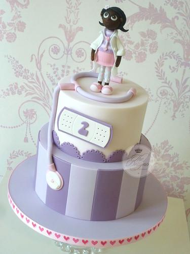 Fabulous Doc Mcstuffins Birthday Cake A Photo On Flickriver Funny Birthday Cards Online Amentibdeldamsfinfo