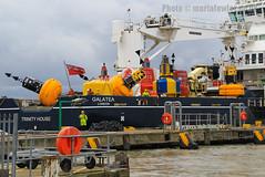 Galatea - IMO 9338591 (mariafowler.co.uk) Tags: house ship vessel trinity maintenance buoys tender buoy galatea buoyant
