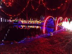 Noccalula Christmas Lights Reflections---Gadsden, Al. (bamaboy1941) Tags: reflections al goldfishpond gadsden noccalulafallspark nightimephotos noccalulachristmaslights
