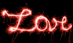 Love (Curl66) Tags: red love night writing experimental text expressive sparks sparkly