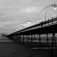 Southport (FVPhotography) Tags: black beach monochrome liverpool docks work project pier town power mark ships statues whte uni southport emulation emulating