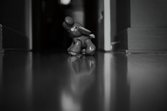 Just Needed A Little Alone Time (Dan Constien) Tags: life blackandwhite elephant reflection parenthood childhood canon children toys room daily reflect 5d canon5d childrensphotography