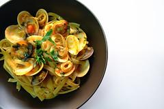 Vongole (Addixon777) Tags: food white tomato recipe italian wine bowl clam pasta fujifilm vongole xpro1