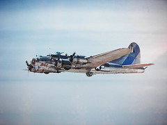B-17 Sentimental Journey (stvpak) Tags: airplane aircraft airplanes airshow edwardsafb b17 ww2 propellers adventures airforce props airliner airshows worldwartwo planesoffame wwiiaircraft ww2aircraft wwiibombers chinoairshow ww2bombers b17sentimentaljourney edwardsafbairshow propellerairplanes ww2pictures