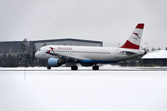 Austrian OE-LBU, OSL ENGM Gardermoen (Inger Bjørndal Foss) Tags: norway airplane osl gardermoen austrian oelbu