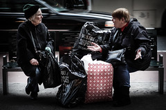 This Conversation is Full of Surprises (Feldore) Tags: street new york old two people woman lady shopping bench bag women expression sony talk full conversation bags talking mchugh puzzled surprises rx100 feldore {vision}:{car}=0537 {vision}:{sky}=0618 {vision}:{clouds}=0544 {vision}:{outdoor}=0607