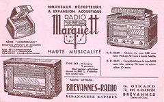 MARQUETT Radio Buvard Model - Ink Blotter (France ca 1952) (MarkAmsterdam) Tags: old classic sign metal museum radio vintage advertising design early tv portable colorful fifties arm tsf mark ad tube battery engineering pickup retro advertisement collection plastic equipment deck tape changer electronics era record handheld sheet catalog booklet collectible portfolio recorder eames sales electrical atomic brochure console folder tone forties fernseher sixties transistor phono phonograph dealer cartridge carradio fashioned transistorradio tuberadio pocketradio 50's 60's musiktruhe tableradio magnetophon plaskon 40's kitchenradio meijster markmeijster markamsterdam coatradio tovertoom