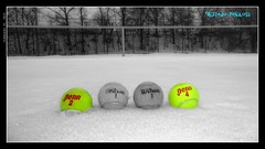Pen & Wilson (FredySonrisas) Tags: winter bw snow cold fog frozen alone nieve tennis tenis penn invierno soledad niebla helado frio tenniscourt absence tennisballs ausencia peñalosa pelotasdetenis pistadetenis fredysonrisas