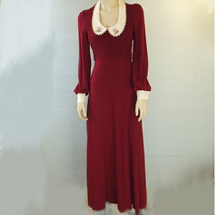70d0 (grimcreations) Tags: california mod long dress lace maroon wide skirt peter 70s hippie oops pan 1970s collar boho length gypsy groovy cuffs maxi eyelet bohehiam