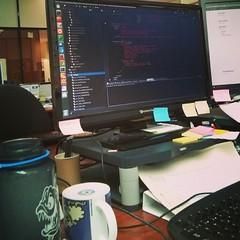 Code code & code (JF Sebastian) Tags: work computer bottle code keyboard geek screen zaragoza squareformat mug ide ubuntu coding programmer nexus4 morethan100visits morethan250visits morethan500visits instagramapp uploaded:by=instagram foursquare:venue=4d089d35790fa0932742c473