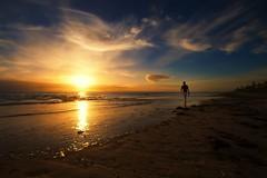 hope [explored] (Bec .) Tags: ocean sunset woman sun reflection beach water beautiful clouds canon walking hope sand adelaide southaustralia 1022mm henleybeach 10mm explored feelinglonely 450d holdonpainends rbat75