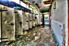 Body fridges (AuroraUK) Tags: uk windows england reflection abandoned water hospital dead death fridge peeling doors body decay secret medical hidden urbanexploration derelict slab ue morgue postmortem autopsy urbex mortuary