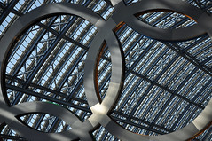 DSC_1419 [ps] - Besmirched (Anyhoo) Tags: uk roof shadow england white london glass circle logo ring rings repair join link vault olympics patch brand dappled stpancras branding circular interlocking olympicgames london2012 annular olympicrings stpancrasstation olympiclogo anyhoo stpancrasinternational photobyanyhoo
