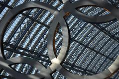 DSC_1419 [ps] - Besmirched (Anyhoo) Tags: uk roof shadow england white london glass circle logo ring rings repair join link vault olympics patch brand dappled stpancras branding circular interlocking olympicgames london2012 annular olympicrings stpancrasstation olympiclogo anyhoo stpancrasinternational photobyanyhoo