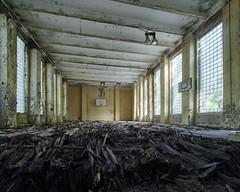 (Subversive Photography) Tags: rot abandoned basketball germany dark ruins decay nazi wwii atmosphere urbanexploration soviet abandonded ww2 grime gym potsdam urbex krampnitz danielbarter