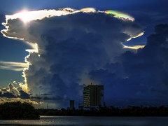 Cumulonimbus wave (leogonini) Tags: sunset cloud storm colors clouds canon cumulonimbus s200
