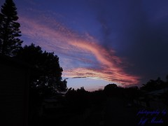Hot (Dreaming of the Sea) Tags: sky storm blue bundaberg pink p520 nikon orange sunset 1000v40f 1500v60f 7dwf