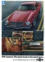 1974 Chevrolet Camaro Advertisement Hot Rod December 1973