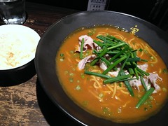 Red Curry ramen from Minowa @ Roppongi (Fuyuhiko) Tags: from red hot ass tokyo curry ramen roppongi  spicy kicking    minowa