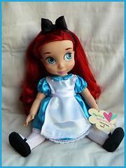 Alice in Wonderland Dress (Martysakuracat) Tags: blue white bunny film ariel store shoes doll hand dress princess alice ooak cartoon disney queen made mad custom wonderland martina hatter animator animators sakuracat martysakuracat