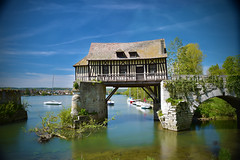 Old mill (Sizun Eye) Tags: old longexposure bridge france mill broken monument seine boats moulin spring nikon europa europe village medieval le lee d750 pont normandie bateau tamron vernon normandy printemps westerneurope vieux colombage eure fleuve seineriver halftimber 2470mm mdival francja hautenormandie poselongue europedelouest sizun 10stops leefilters vernonnet endommag tamron2470mmf28 bigstopper sizuneye