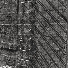 Jacob's Ladder (a.rebours) Tags: shadow blackandwhite france building monochrome architecture stairs concrete arch decay bunker normandie normandy bnw beton blockhaus jacobsladder blokhaus