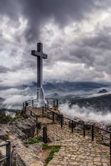 Ms de la cruz de Jan. (EDU S.G.) Tags: sky way nikon cross camino sigma andalucia cruz cielo nubes tormenta sight vistas jaen andalusia castillo hdr santacatalina castillodesantacatalina d5200