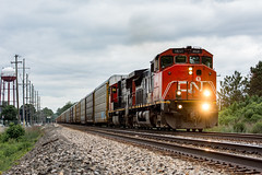 Q264 - East Rochester (ConnorShortPhotography) Tags: new york railroad ny cn power railway columbia canadian double east rochester national british foreign csx autorack railfanning csxt bcol ditchlights q264