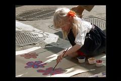 ss28-53 (ndpa / s. lundeen, archivist) Tags: people color film girl boston painting paper child massachusetts nick slide slideshow mass 1970s streetfair patin dewolf early1970s nickdewolf photographbynickdewolf slideshow28 gettingitonpaper