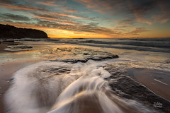 Rocky recovery (Mike Hankey.) Tags: seascape colour sunrise focus published lowtide turimetta