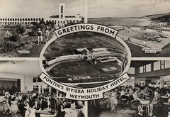Pontins Riviera Hotel, Bowleaze Cove (trainsandstuff) Tags: vintage postcard weymouth pontins rivierahotel bowleazecove