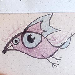 The eye of the bird or the bird of the eye? (borianag) Tags: see look bird eyes eye concept art doodles doodling doodle illustrations illustration sketching sketch sketches ifttt instagram