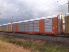 orange unicorn (always_exploring) Tags: auto orange graffiti rack unicorn freight
