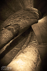 En la barriga del caracol... (E.M.Lpez) Tags: sepia monocromo arquitectura medieval escalera virado 2016 escaleradecaracol lamota alcallareal fortalezadelamota