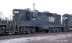 N&W 952 on 3-9-80 (C.W. Lahickey) Tags: nw connellsville emd gp18
