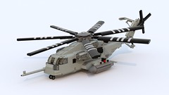 CH-53E Super Stallion (TheRookieBuilder) Tags: lego render helicopter rotors superstallion legodigitaldesigner ch53e bluerender