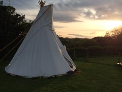 A beautiful evening in Branscombe (Snowfairy) Tags: view farm devon coombe tipi branscombe coombeviewfarm
