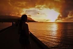 DSC_2018 (speednurse) Tags: sunset hawaii kauai beach hanalei girl honeymoon nikon1 1day1shot