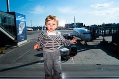 . (krameroneill) Tags: baby oslo norway airplane airport xpro fujifilm 2016 krameroneill