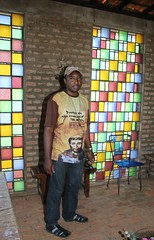 Frei Gilberto na capela com seus vitrais. 098 (vandevoern) Tags: brasil serra piaui solido eremitrio orao trindade floriano vandevoern landrisales