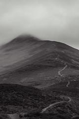Summit Walk (charlieshelton33) Tags: cloud white mist mountain lake black weather fog contrast climb path district altitude hill cumbria summit scree pike skiddaw bassenthwaite ullock