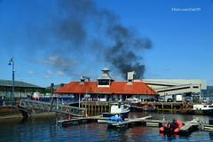 (Zak355) Tags: building marina scotland harbour smoke scottish bute rothesay isleofbute