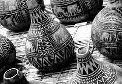 Africa Oye 2016 - 14 (Paul Reay) Tags: africa blackandwhite abstract festival liverpool market african patterns arts culture stall tribal pots seftonpark vases trader africaoye